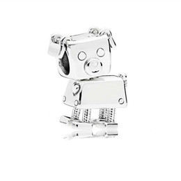 $enCountryForm.capitalKeyWord NZ - 925 Sterling Silver Little Pig Robot Charm,Cute Baby Animal fit Pandora Bracelet Beads Jewelry Making