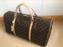 cf7e782dcc3f8 2019 männer reisetasche frauen reisetaschen handgepäck luxus designer  reisetasche männer pu leder handtaschen große umhängetasche totes 55 cm
