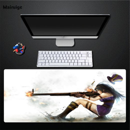 Background Prints Australia - Mairuige Printing Sexy Beauty Sliding Mouse Pad White Background Pad Large Size Computer Desktop Mat Game Universal