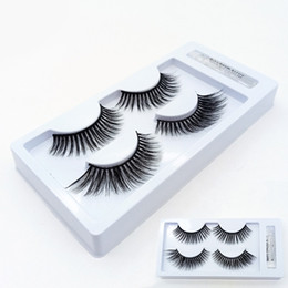 eye lashes black glue NZ - 2 Pairs Mixed False Eyelashes Thick Makeup 3D Mink Lashes Soft Eyelash Extension Fake Eye Lashes Long Mink Eyelashes With Glue