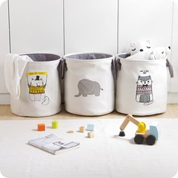 $enCountryForm.capitalKeyWord NZ - High-grade Cartoon Folding Canvas Dirty Clothes Basket Children Toy Bucket Bedquilt And Magazines Storage Box Organizer J190713