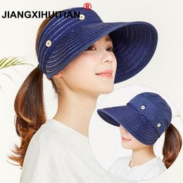 Sun Hats For Ladies Australia - New Spring Summer Hat Sun Hats For Women Removable Top Sun Visor Cap Ladies Hat Female Chapeau Femme Foldable High Quality