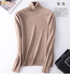 wholesale linen clothing women Australia - Knitted Turtleneck Pullover Sweater Women 2019 Autumn Winter Clothes Female Jumper Pull Femme Hiver Basic Solid Warm Sweaters