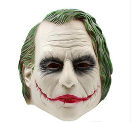 Wholesale batman cosplay for sale – halloween NEW Joker Mask Realistic Batman Clown Costume Halloween Mask Adult Cosplay Movie Full Head Latex Party Mask