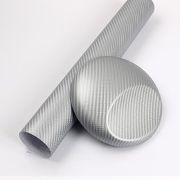 $enCountryForm.capitalKeyWord NZ - Silver 3D carbon fiber vinyl wrap Car Wrapping Film Sheets With Air Drain Top quality 1.52x30m Roll 4.98x98ft