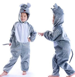 $enCountryForm.capitalKeyWord UK - New style the 2018 children cosplay Grey mouse leopard cat Suitable for boys and girls Stage costume short style dancing clothe