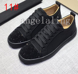 $enCountryForm.capitalKeyWord Australia - Top quality Red sole Liu Ding shoes European luxury Men's and women casual shoes low suede and leather shoe Different styles 15 color
