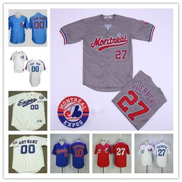 Wholesale Custom Montreal Expos Jersey Mens Womens Youth Kids Vladimir Guerrero Larry Walker Tim Raines Stitched baseball Jerseys