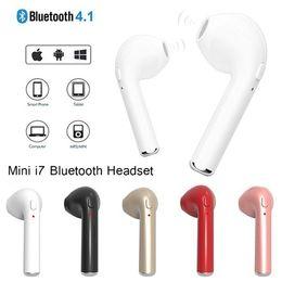 $enCountryForm.capitalKeyWord Australia - I7 Mini In-Ear Wireless Bluetooth Stereo Headset Headphones Stylish Sports Music Microphone Earphone for IPhone Smart Phones Accessories