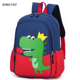 cute dinosaur cartoons NZ - KOKO CAT Dinosaur Children Backpack Cute Cartoon Printed Kindergarten Baby Bag Travel Bags Toys Gifts Mochila Infantil Escolares
