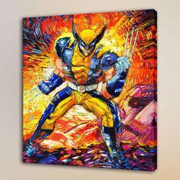 $enCountryForm.capitalKeyWord Australia - Van Gogh Superhero Wolverine,HD Canvas Print Home Decor Art Painting Unframed Framed