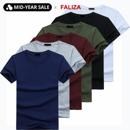 mens casual short sleeve t shirts Australia - 2020 6pcs lot High Quality Fashion Men's T-Shirts Casual Short Sleeve T-shirt Mens Solid Casual Cotton Tee Shirt Summer Clothing CX200702