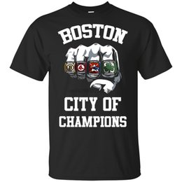 UniqUe t shirts women online shopping - BOSTON City Of Champions Unique T Shirt Black Navy for Men Women