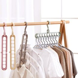 $enCountryForm.capitalKeyWord Australia - Clothes coat hanger organizer Multi-port Support baby Clothes Drying Racks Plastic Scarf cabide Storage Rack hangers for clothes