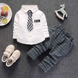 Cute Outfits For Spring Australia - good quality Boys Clothing Sets Spring Autumn Children Tracksuit Kids Boys Casual Tops T-shirts+Pants Baby Sets For Boys Outfits
