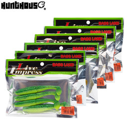 Soft Lures For Fishing Australia - Hunthou 2019 New Style Fishing Lure Soft Lure Bait 7cm 10cm 6bag set For Fishing Bass Leurre T Tail Fishing Tackle Equipment