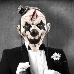 $enCountryForm.capitalKeyWord Australia - Top Grade Hot New Halloween Horrible Scary Clown Mask Adult Men Latex White Hair Halloween Clown Evil Killer Demon Clown Mask