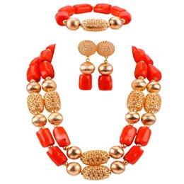 $enCountryForm.capitalKeyWord Australia - Fashion Orange African Coral Necklace Jewelry Set Nigerian Wedding Bridal Jewelry Sets CBS39