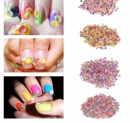 3d Acrylic Nails Australia - 1000pcs pack 5mm 3d Diy Nail Art Acrylic Fruit Flower Butterfly Slices Polymer Clay Colorful Slice Decoration Tips Manicure