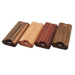 Madeira Dugout Uma Hitter Fumar Cachimbo Kit 4 cores Dry Herb Tobacco Box cigarreira Tubo com gancho portátil 15bt E19 em Promoção