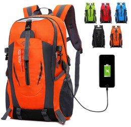 New Camping Backpacks Australia - USB Rechargeable Bag New Backpack Men Large Outdoor Mountaineering Bag Female Sports Travel Mountain Camping Climbing