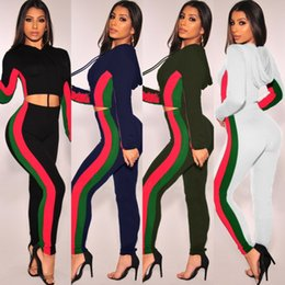 971464abd women designer sportswear long sleeve shirt pants tracksuit hoodie legging  2 piece set bodycon outfits fashion sports set hot y3