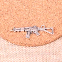Charm making maChines online shopping - 44pcs Charms machine gun assault rifle Antique Silver Plated Pendants Fit Jewelry Making Findings Accessories mm