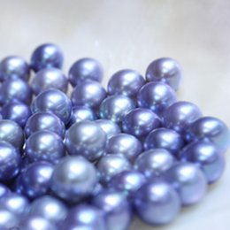 Loose Pearls Mix Australia - JNMM 20Pcs Lot 6-8mm Round Great Grade Dark Purple Freshwater Loose Pearl Beads Undrilled Mixed Color for Women Jewelry Making Gift