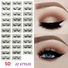 79ace938d3f Thick Faux Mink Eyelashes 5D Long Lasting Lashes False Eyelashes Natural 32  styles Glitter Packaging Handmade Mink Eye Lashes