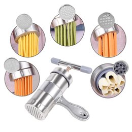 $enCountryForm.capitalKeyWord NZ - Manual Noodle Maker Press Pasta Machine Crank Cutter Fruits Juicer Cookware With 5 Pressing Moulds Making Spaghetti Kitchenware