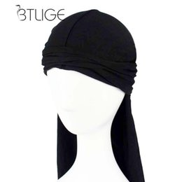 biker skull caps UK - BTLIGE Men's Durag Bandanna Sports Scarf Head Rap Tie Down Band Biker Cap Fashion Spandex King'S Durag Hats & Caps Men