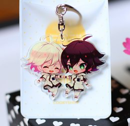 Discount anime pendants cosplay - Japan Anime Owari no Seraph Mi Jiaer You Yilang Mi You Cosplay Party Acrylic Keychain Charm Keyring Phone Pendant Gifts