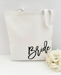 Wholesale Bride Tote Bag Bride Bag Maid of Honor Bridal Shower Wedding Tote Bridal Party Gift Bridesmaid Sale Customized gift
