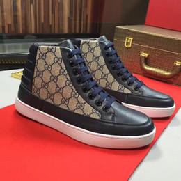 cc8a36e47 Zapatos de hombre Botas de tobillo de moda Pisos High Top Leather Casual Zapatos  para caminar para hombre Zapatillas de deporte de alta con cordones Diseño  ...