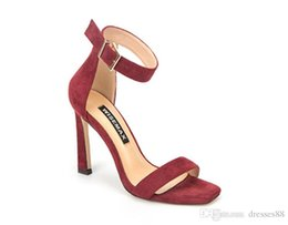 $enCountryForm.capitalKeyWord Australia - New Arrivals 2019 Patent Leather Thrill Heels Women Unique Designer Pointed toe Dress Wedding Shoes Sexy shoes Letters heel Sandals