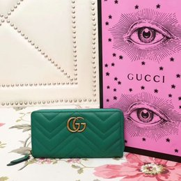 $enCountryForm.capitalKeyWord Australia - Quilted human figure calfskin long ladies full zip wallet 443123 green CLUTCHES EVENING LONG CHAIN WALLETS COMPACT PURSE