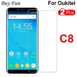 oukitel 5.5 inch phones 2019 - 2PCS For Oukitel C8 Tempered Glass 9H 0.33MM 2.5D C8 Phone front 9H Screen Protector for Oukitel glass 5.5 inch cheap ou