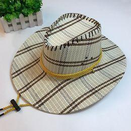 e95fa625e16e6 Wholesale Straw Hats For Men Australia - Handwork Summer Women Men Western  Straw Cowboy Hat For