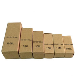 Chinese  Brown Foldable Kraft Paper Package Boxes Pure Color Gfit Box Lipstick Craft Essential Oil Roller Bottle Storage Carton 7 Sizes Available manufacturers