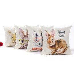 $enCountryForm.capitalKeyWord UK - Happy Easter Rabbit With Love Glass Easter Eggs Cushion Cover Pillow Covers 45X45cm Decorative Sofa Chair Pillow Case Room Decor