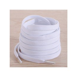 $enCountryForm.capitalKeyWord NZ - Cheap Price Polyester White Black Shoelaces Low Elastic Silk Flat Follow Double Layer Shoe Laces for Shoes 36-40 2 White Pink Rise Laser Fuc