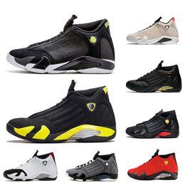 70658562c026 Fashion Indiglo Thunder 14 14s Basketball Shoes Mens Black Grey Ferrari  desert sandBlack toe Wolf Grey mens sport shoes desinger sneakers
