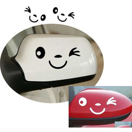 $enCountryForm.capitalKeyWord NZ - 2PCS Cute Rearview Mirror Car Stickers Reflective Smiling Face Sticker Decal