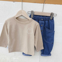 $enCountryForm.capitalKeyWord Australia - Spring Cartoon Letters Printed Pure Cotton Kids T Shirts Boys All-match Casual Tees Children Pullovers Tops Q190523
