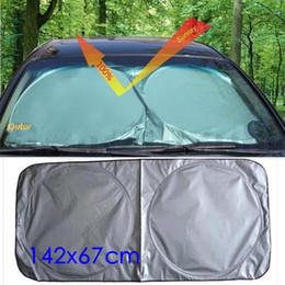 $enCountryForm.capitalKeyWord Australia - LMoDri Car Front Window Sun Shade Auto Windshield Visor Cover Block Sunshade Foldable Cover 142*67cm