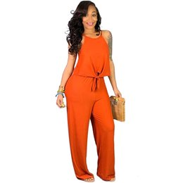 Matching Tie UK - Two Piece Tracksuit Women's Clothing Spaghetti Strap Front Tie Loose Crop Top And Wide Leg Pants Casual 2 Piece Matching Sets