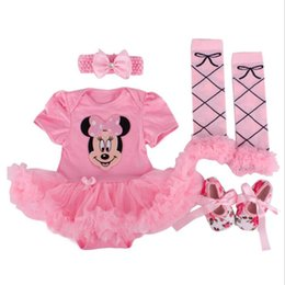 Tutu Socks Girls Australia - 2018 New Gifts,newborn Baby Costumes,kids Romper Girls Tutu Dress+headband+colorful Socks+shoes Outfit Set Toddler Clothes0-24m Y19061201