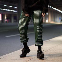 English pockEts online shopping - Letters Printed cargo Pants Men d Print English Mens Joggers Sweatpants Hip Hop High Street Multiple pockets pants