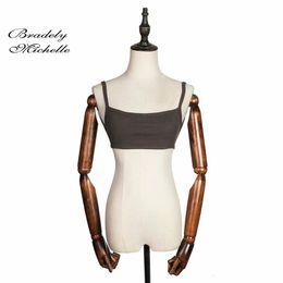 $enCountryForm.capitalKeyWord NZ - Bradely Michelle 2019 Summer Fashion Sexy Women Crop Tops Sleeveless Short Cotton Knitted Bar Y19042801
