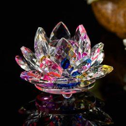 $enCountryForm.capitalKeyWord Australia - 1 pcs Quartz Crystal Lotus Flower Crafts Glass Fengshui lucky Ornaments Figurines Home Wedding Party Gifts decoration